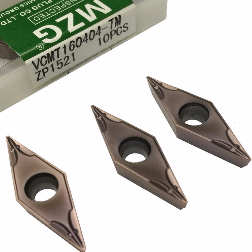 MZG VCMT160404 TM ZP1521 Solid Indexable Carbide Inserts for Turning Boring Cutting Tools Stainless Steel Processing