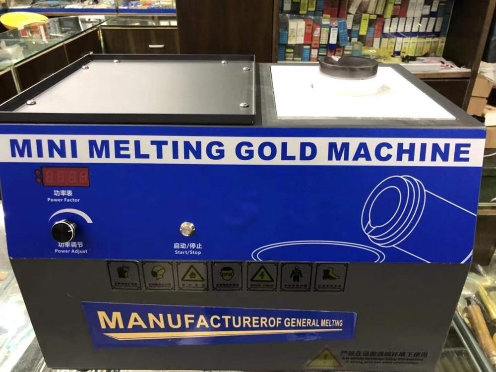Di riscaldamento a induzione macchina di fusione Forno di fusione dell'oro piccolo inducendo riscaldamento fusione oro e argento furnacer
