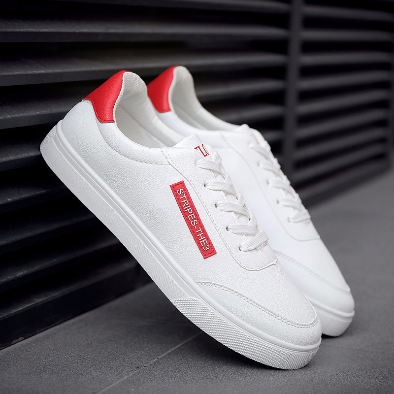 2018 New White Fashion Shoes Men Casual Lace-up Shoes tenis masculino adulto Comfortable Male Walking Shoes 2