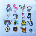 1Pc Animals Gogs Unicorn Patch for Clothing Iron on Embroidered Applique Cute Patch Fabric Badge Garment DIY Apparel Accessories