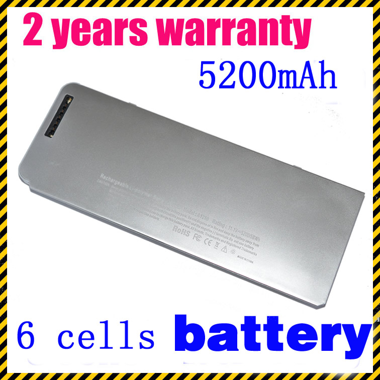 JIGU 10 8V Plastic shell A1280 Laptop Battery For Apple MacBook 13 A1278 MB771 MB466 A