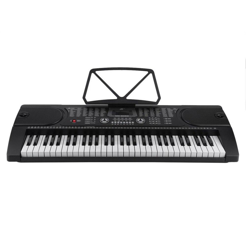 61 touches Multi-Fonction Numérique Piano Orgue Électronique Avec Microphone Support Matériel Musical