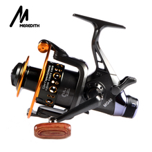 Meredith Fishing Reel Fishing Spinning Reel 5.2:1 10+1BB Double Drag Carp Feeder Fishing Reel Wheel Series 3000 4000 5000 6000