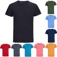 Mens Heavyweight Cotone Pesante di Spessore Pianura Solido 7.3-8.6 Once T-Shirt casual di Base Morbido di Sport Tee Top Canottiera per per gli adulti