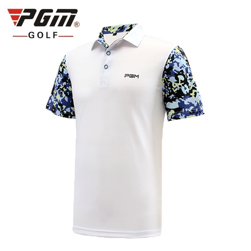 Pgm Golf hommes chemises été à manches courtes épissure tennis de sport respirant séchage rapide Golf T Shirt Golf vêtements AA11833