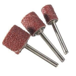 Image 5 - 102 stücke 120 Grit Schleifen Trommel Kit Mit 1/2 3/8 1/4 Zoll Schleif Dorne Fit Dremel Dreh Werkzeuge