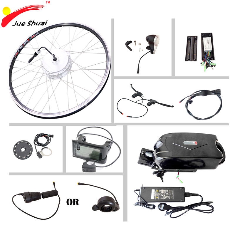 Electric Bicycle Motor Kit With Battery In India: Electric Hub Motors 36V 10ah Lithium Frog Battery Mounted