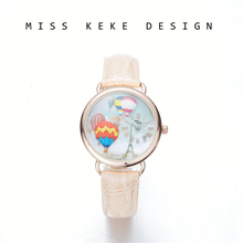 2018 New Arrival MISS KEKE Clay Small Size 32 MM Cute Geneva Kids Girl Watches Children Women Turkey Travel Balloon