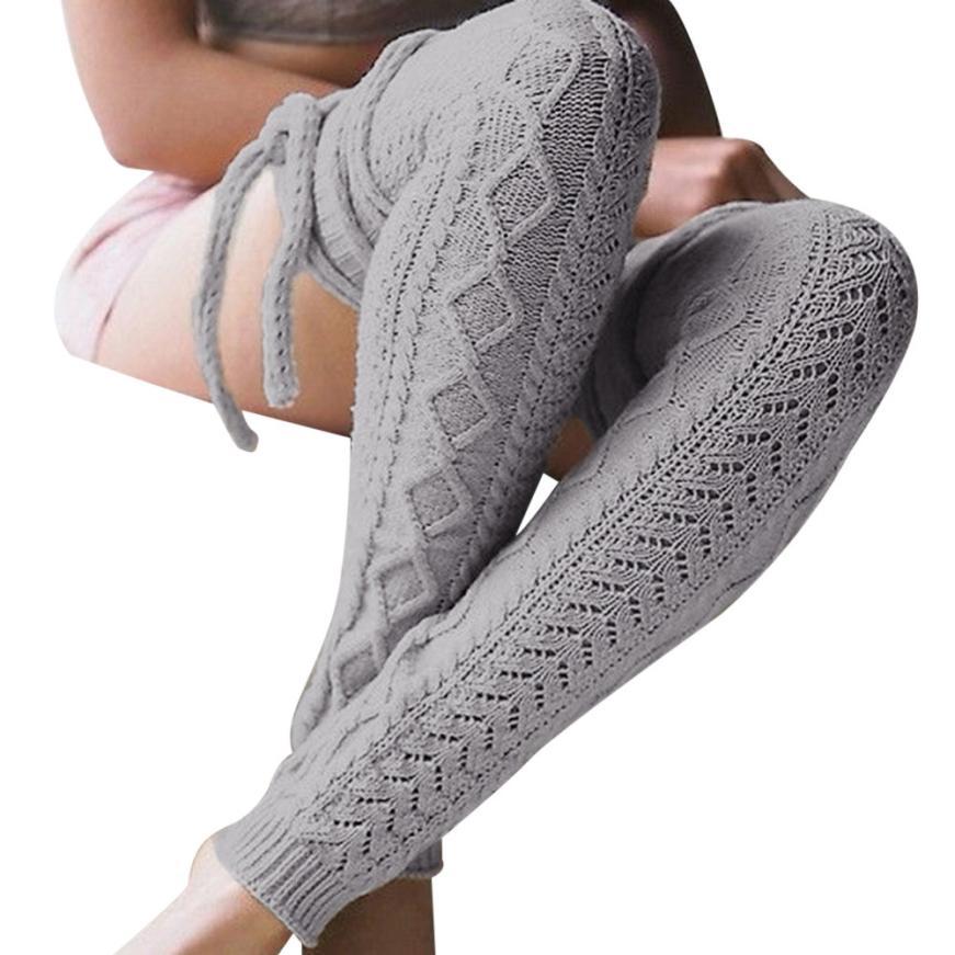 snowshine YLI Girls Ladies Women Thigh High OVER the KNEE Socks Long Cotton Stockings Warm