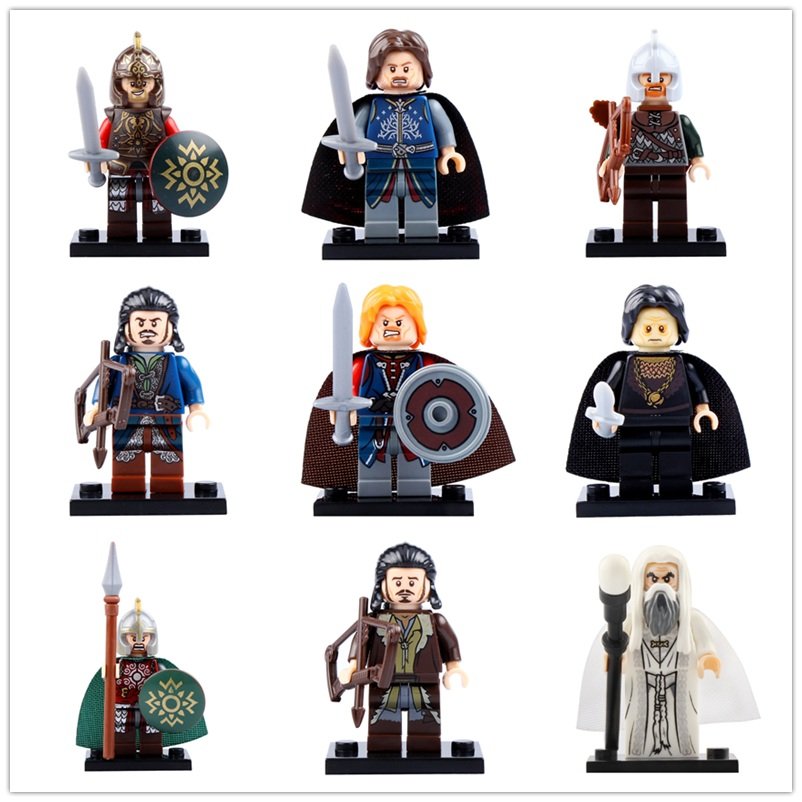 Legoedly Lord Of The Rings Action Minifigured Boromir Rohan Building Blocks Figure Children Gift Bricks Toys CP8031