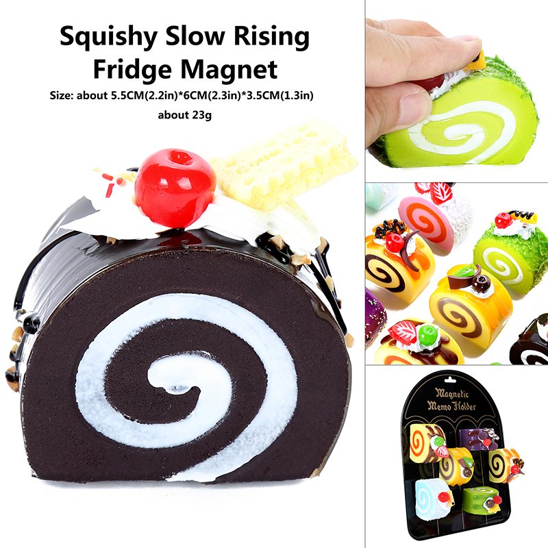 Squishies  Egg Roll Magnet Slow Rising Soft Squeeze Stuffed  Pressure Squeeze Relieve Stress  Gift Kids Hot Food Toy Educational