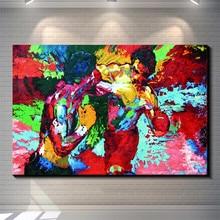 Rocky vs Apollo-Leroy Neiman бокс холст живопись гостиная домашний декор Современная роспись искусство картина маслом