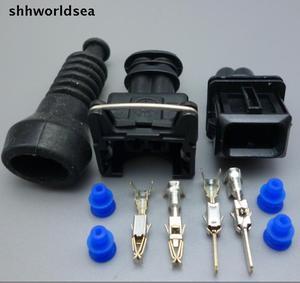 Shhworldsea 15 комплектов 2 способа 2 штыря 3,5 мм разъем автомобильного топливного инжектора дюрит несколько юных силовых таймеров соединитель JPT + ...
