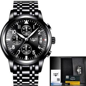 Image 5 - Mens นาฬิกาควอตซ์กันน้ำธุรกิจนาฬิกา LIGE แบรนด์หรูผู้ชาย Casual กีฬานาฬิกาชาย Relogio Masculino relojes hombre