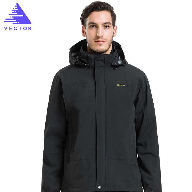 ベクトル冬の屋外のジャケットの男性防水ジャケット 3 1 でキャンプハイキングジャケットスキースノーボードウインドブレーカー 60018