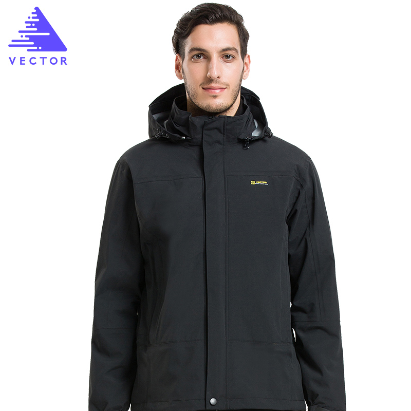 VECTOR Winter Outdoor Jacket Men Warm Waterproof Jacket 3 in 1 Camping Hiking Jackets Skiing Snowboarding Windbreaker 60018