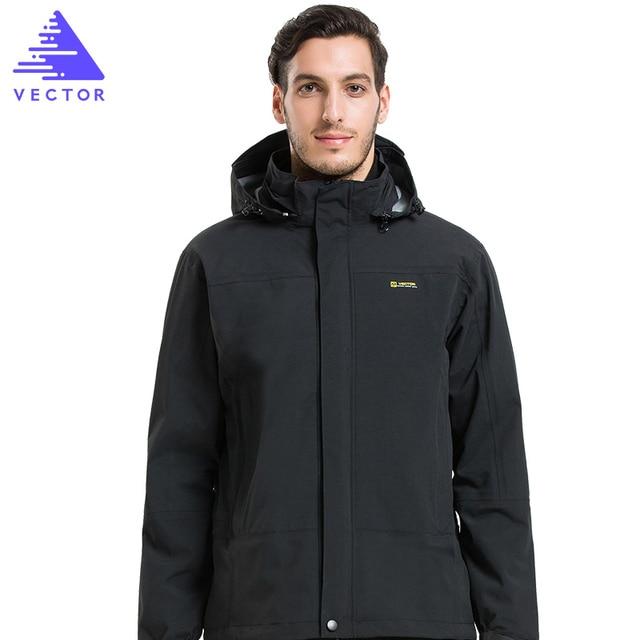 58bfa7efa VECTOR Winter Outdoor Jacket Men Warm Waterproof Jacket 3 in 1 ...