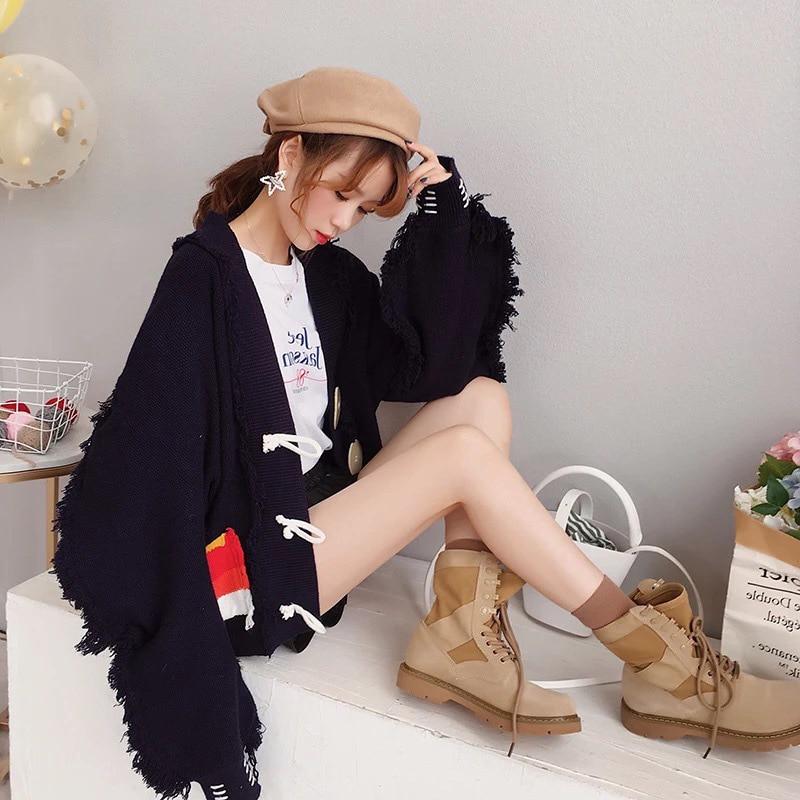 8e1cac8db 2016 nuevas mujeres nueva moda todo-fósforo suéter cadena collar borla  suéter largo Cruz colgante