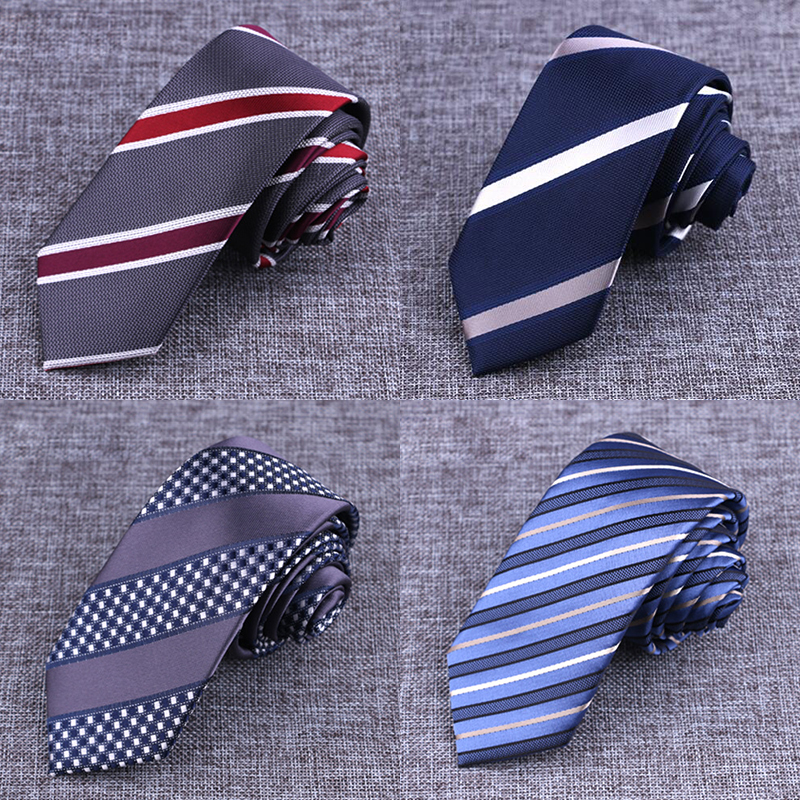 New Brand Mens Ties Man Fesyen Striped Plaid Tie Gravata Jacquard 6cm Slim Tie Wedding Tie For Men Corbatas Hombre 2016