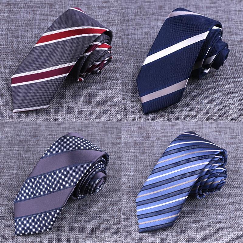 New Brand Mens Ties Man Fashion Striped Plaid Neckties Gravata Jacquard 6cm Slim Tie Wedding Tie For Men Corbatas Hombre 2016