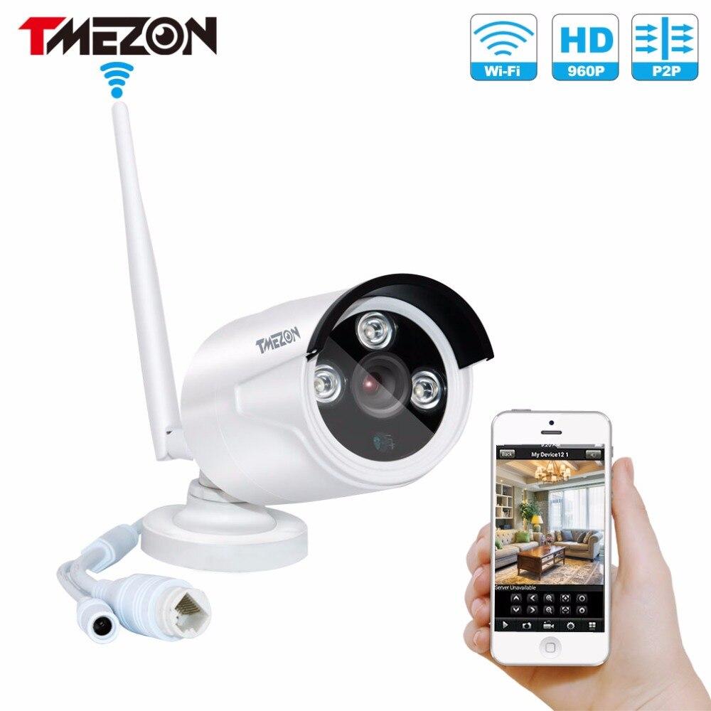 Tmezon Wireless WIFI IP Security Camera HD 960P 1.3MP Bullet Waterproof CCTV IR Night Vision Plug and Play P2P ONVIF For NVR