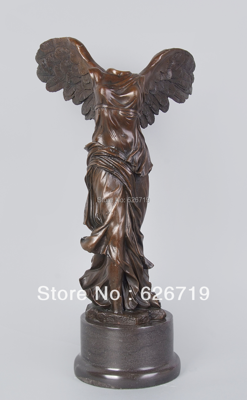 ATLIE BRONZEN Bronze Mythologie Göttin SAMOTHRACE Sieg Statue ...