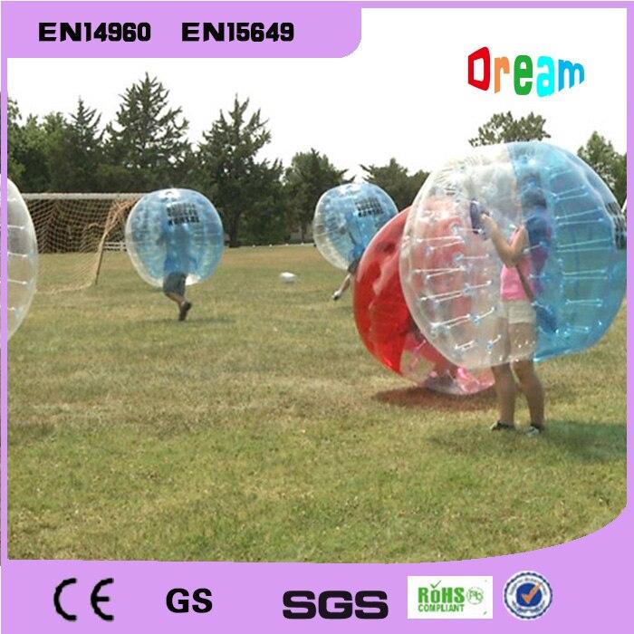 Livraison gratuite 1.5 m gonflable humain Hamster balle bulle Football bulle ballon Football Zorb balle PVC Transparent jeux de plein air jouets - 3