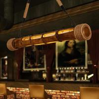90CM Nature Wicker Bamboo Nordic Retro Loft Style LED Pendant Lights Creative Engraved Hanging Lamp Lamparas Colgantes