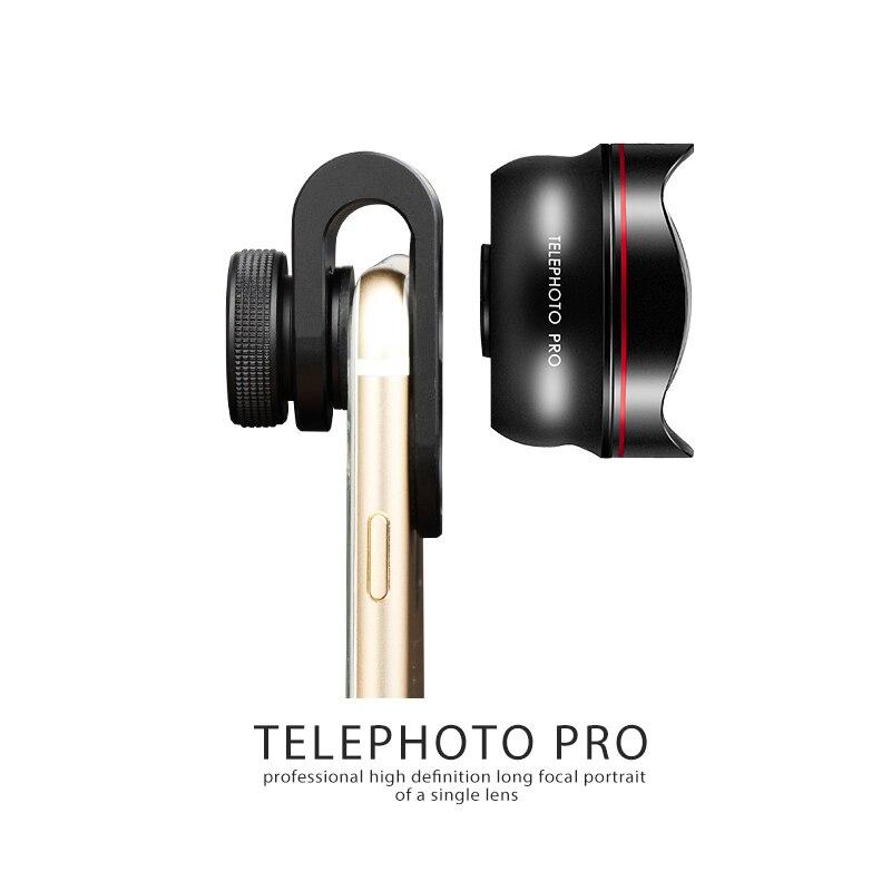 Nulaxy 60mm Téléphone Camera Lens Kit Professionnel téléobjectif téléphones portables Devant Dos Fisheye Kits Pour Smartphone Microscope