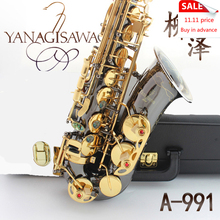 Professional Japan Yanagisawa Gold Plated Carving Saxophone Alto Eb Sax Brass Instruments Music Saxofone Alto A-991