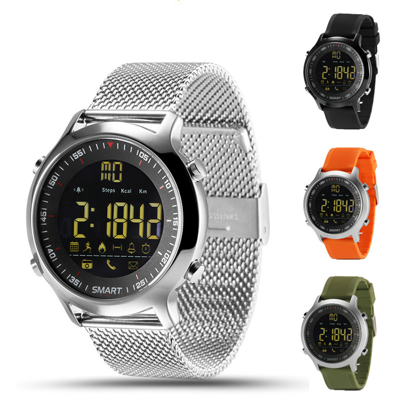 IP67 Waterproof EX18 Smart Watch Support Call and SMS alert Pedometer Sports Activities Tracker Wristwatch Smartwatch makibes ex18 smart watch silver