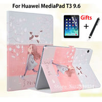 Slim Painted Case For Huawei MediaPad T3 10 AGS L09 AGS L03 9 6 Inch Smart