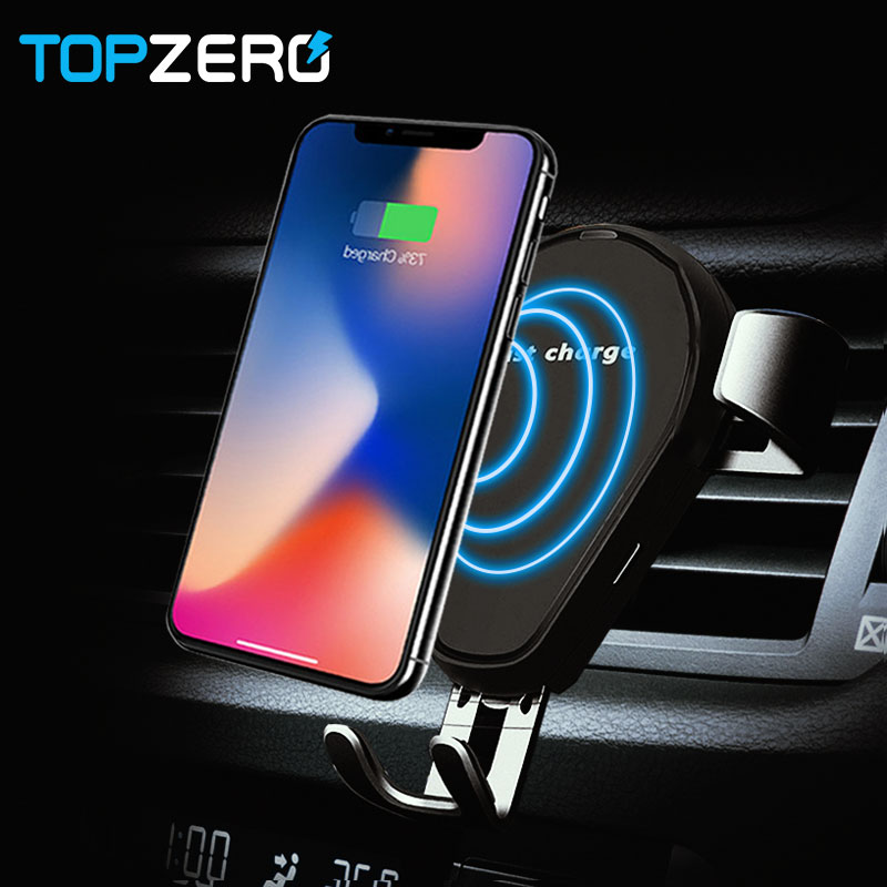 Wireless Car Charger For Samsung S9 S8 Fast Wireless Charging Mount Air Vent Gravity Phone Holder Cradle for iPhone 8 8Plus X