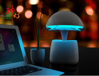 Intelligent Bluetooth TF Speaker FM Radio Player Multifunction Table Lamp With Alarm Clock Function Best For Holiday Gift