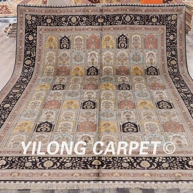 Teppichgrößen yilong 9 x12 vantage vier jahreszeiten seide teppich großen garten