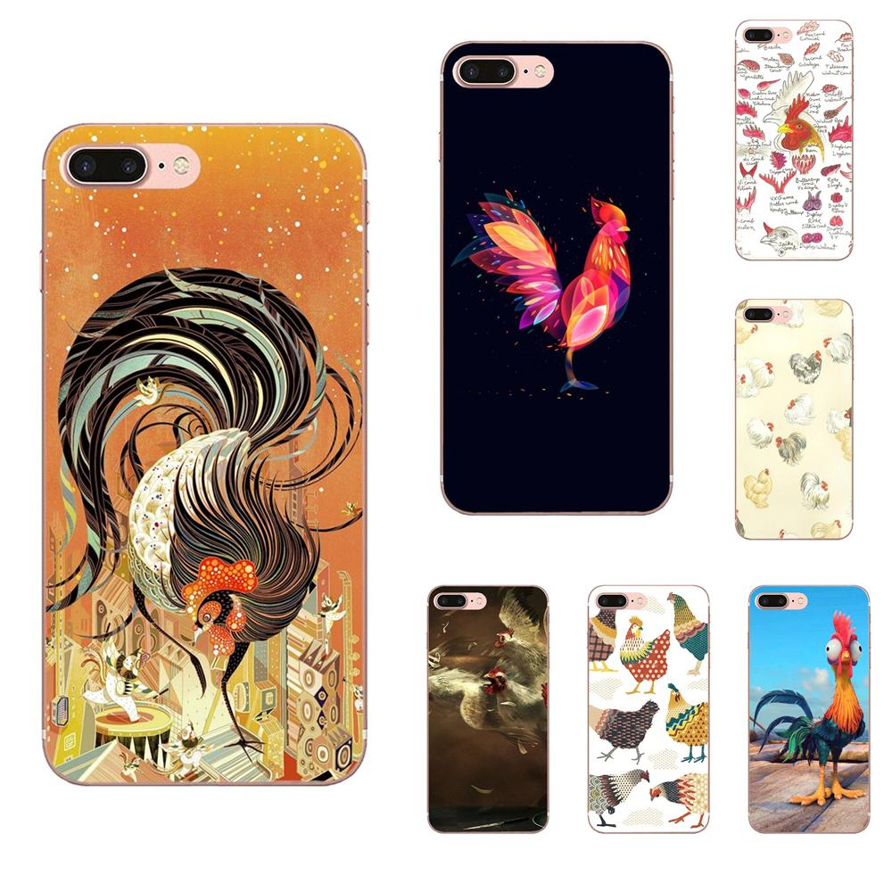 <font><b>Chicken</b></font> Big Rooster Soft Silicone TPU Transparent Fashion Phone <font><b>Case</b></font> For <font><b>Apple</b></font> <font><b>iPhone</b></font> 4 4S 5 5C 5S SE <font><b>6</b></font> 6S 7 8 Plus X XS Max XR image