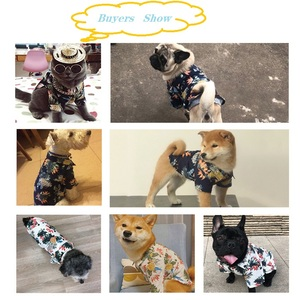 Image 5 - Dog Clothes Cotton Summer Beach Vest Short Sleeve Pet Clothes Floral T Shirt Hawaiian Tops For Small Large Dogs Chihuahua