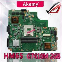 Akemy K43SD материнская плата для ноутбука ASUS A43S K43S A84S K43SD материнская плата 100% OK HM65 GT610M 2 Гб