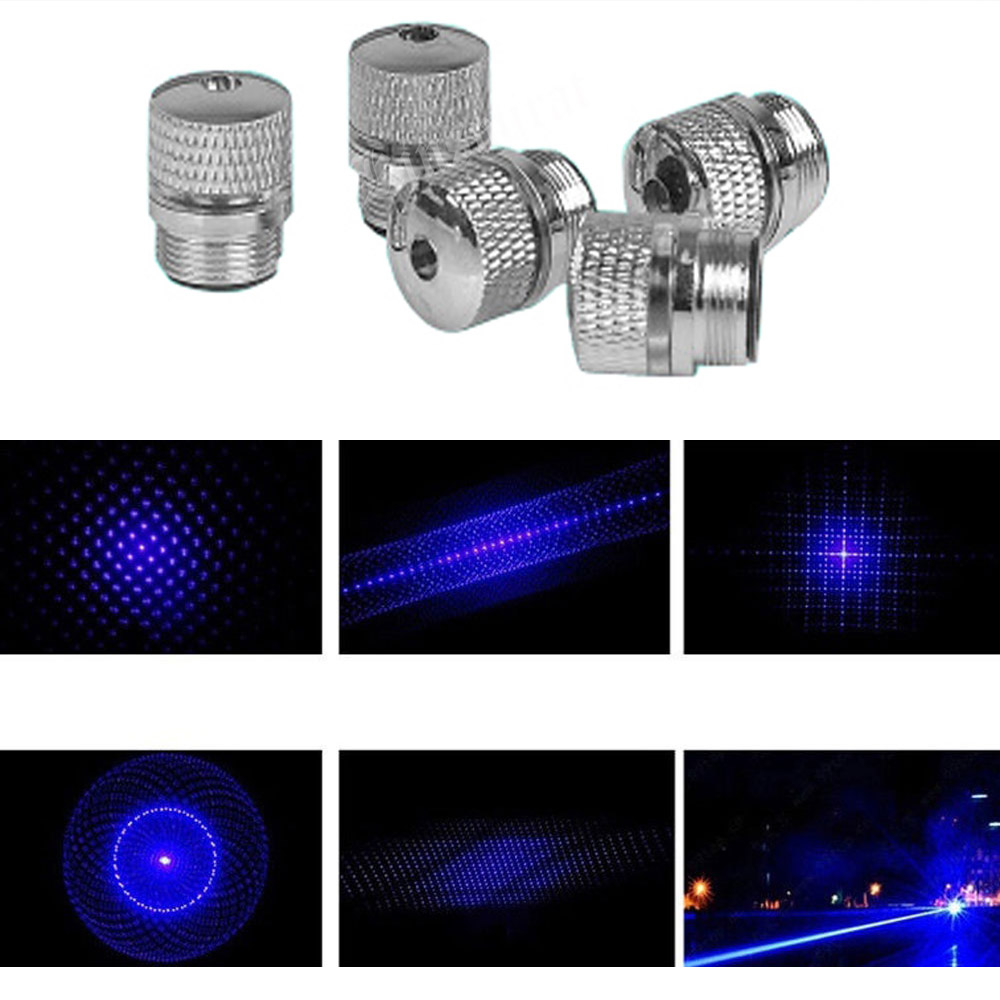 5pcs 303 CNC Lasers Hight Powerful  Adjustable Focus Lazer Pointers With Star Cap(Does Not Include Laser)