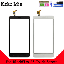 Keke Mia 5.5 Mobile Phone Touch Screen  For BlackView R6 Panel Glass Lens Touchpad Digitizer Free Adhesive + Wipes