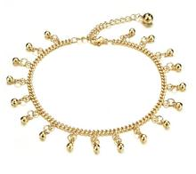 Woman's Bell Pendant Anklets Classical 18K Gold Plated Cute Women Fashion Jewelry Ankle Bracelet Cheap Price KZ737
