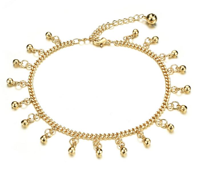 Woman s Bell Pendant Anklets Classical Cute Women Fashion Jewelry Ankle Bracelet Cheap Price KZ737