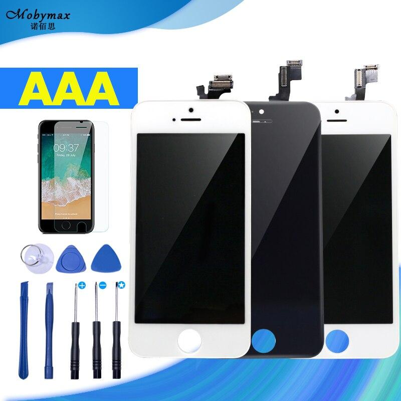 AAA Pantalla pour iPhone 5S Affichage Tactile Digitizer Assemblée Remplacement Lentille Ecran Panneau LCD pour iPhone 6 SE 5C Écran avec Cadeau