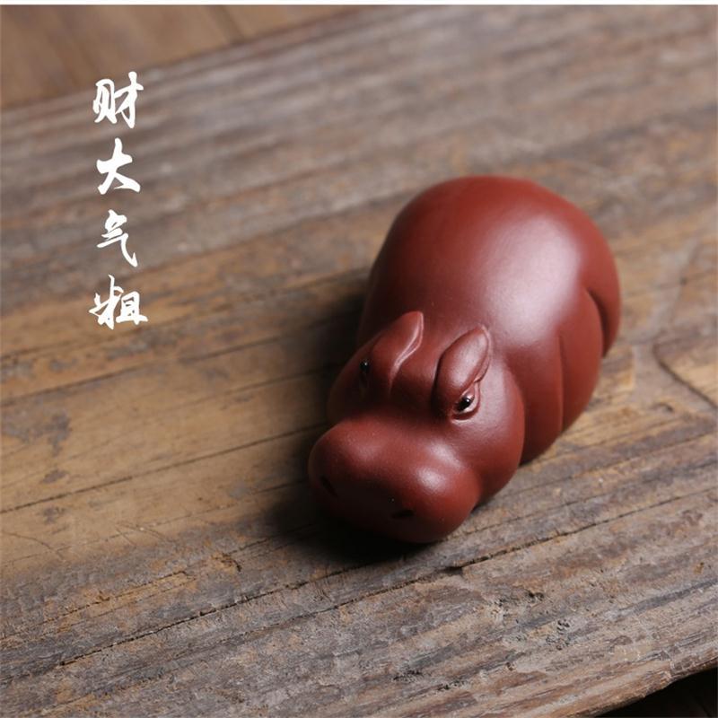 Pure hand purple sand river horse tea pet Ornaments boutique Yixing tea pet ornaments