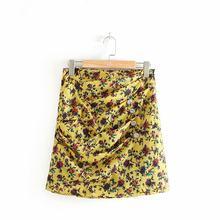 bd7f8e96b8cc Venta caliente Wenwenjia 45-6046 minifalda con moda europea y americana de  la impresión de flor de Doble