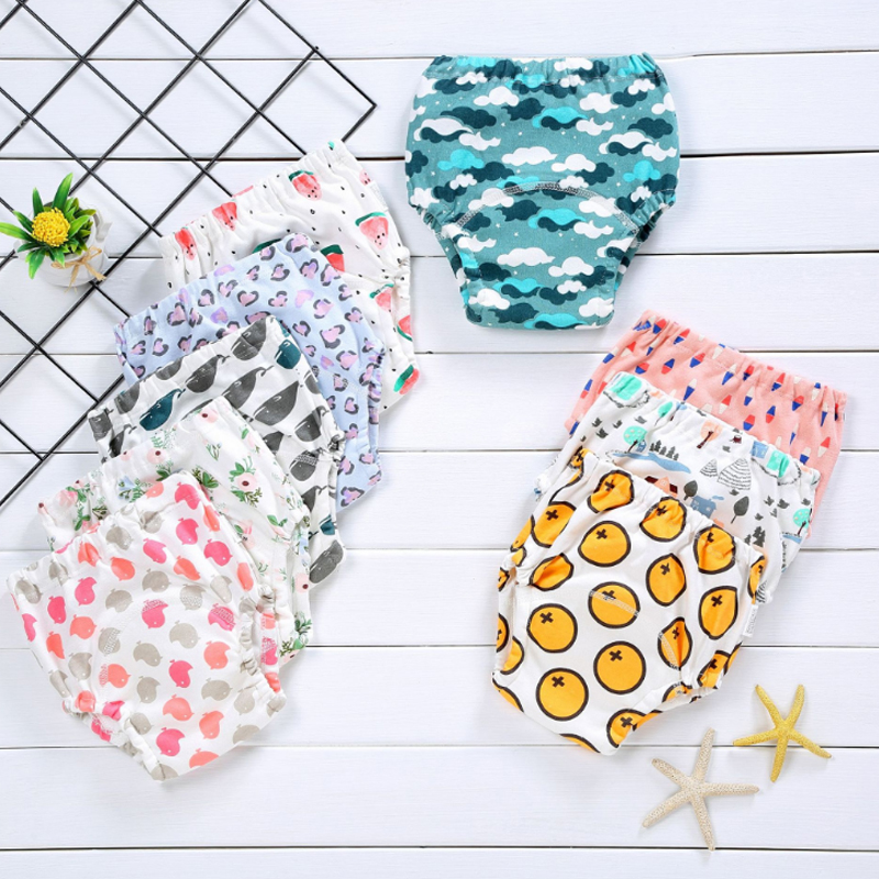 1 cotton baby reusable diaper washable cloth diaper baby child baby cotton training pants underwear(China)