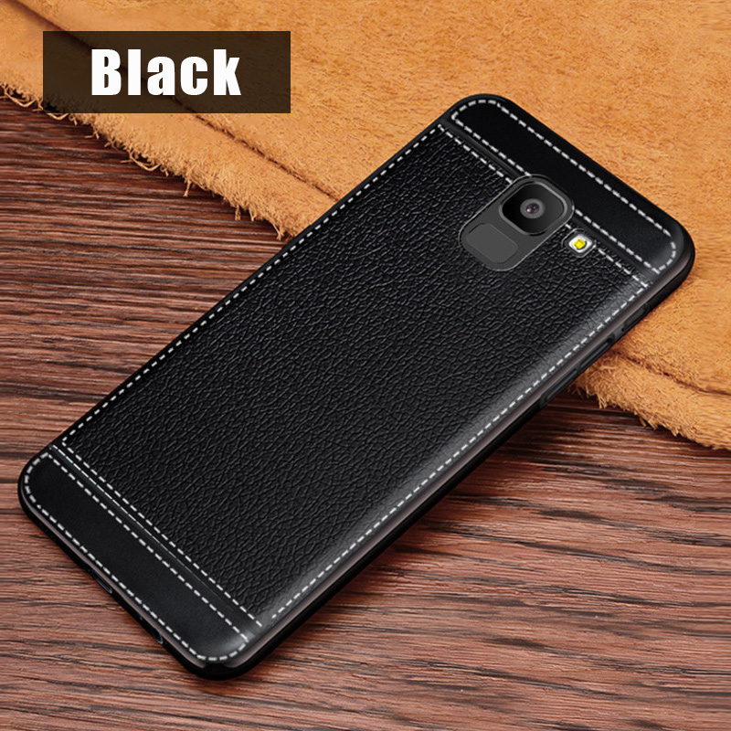 KSAM1105B_1_JONSONW Phone Case For Samsung A7 2018 A6 A8 Plus Leather Skin Soft TPU Silicone Case For J4 J6+ J8 2018 Premium Leather Back Cover Case