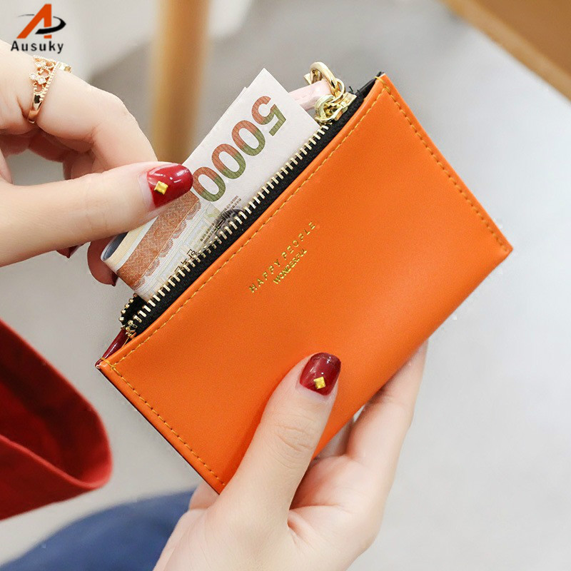Mini thin Women Wallets Long card holder PU Leather Wallet Female  Zipper Clutch Coin Purse Ladies pouch woman wallet  40 new romantic time dumplings zero wallet mini wallets card holder clutch handbag ladies 2016 gift