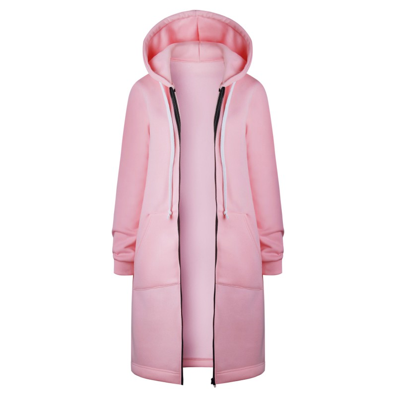 ROPALIA Autumn Winter   Trench   Coat 2017 Spring Women Hooded Coats Fall Warm Thick Poncho Female Zipper Fashion Coats Plus Size