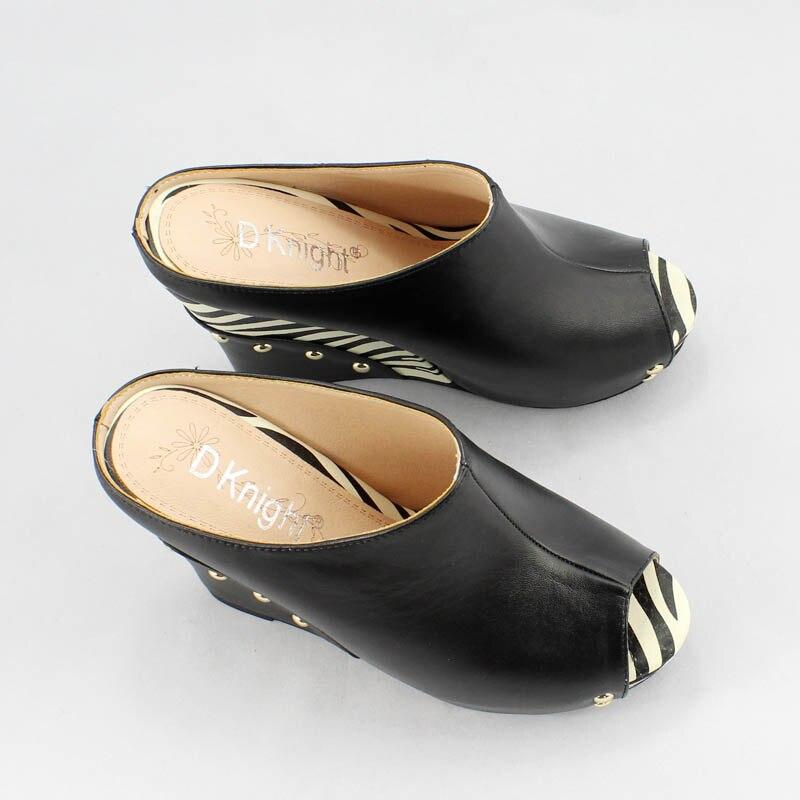 Лидер продаж женские босоножки на платформе-танкетке с открытым носком стильный принт зебры женские шлёпанцы на высоком каблуке женские повседневные шлепанцы без задника с открытыми пальцами туфли сезон лето